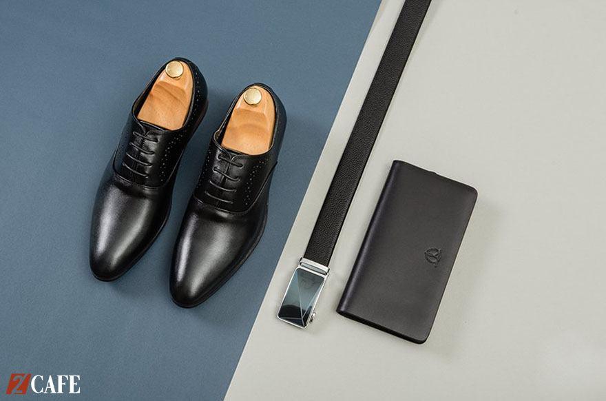 Cách phối hợp giày, ví, thắt lưng đồng bộ (Nguồn: Internet)
