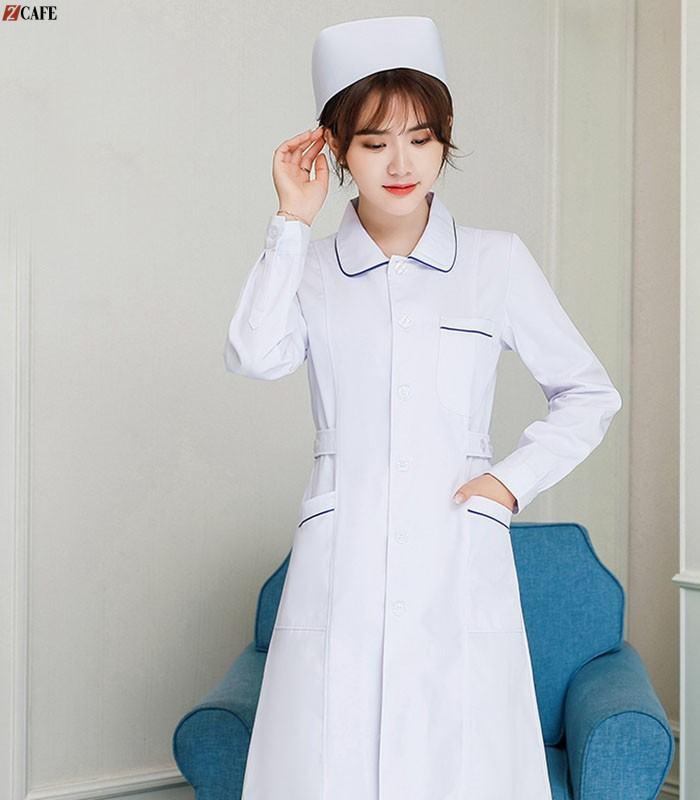 Thiết kế đồng phục y tá khá trẻ trung, kín đáo của ANMAC ( Ảnh: Internet)