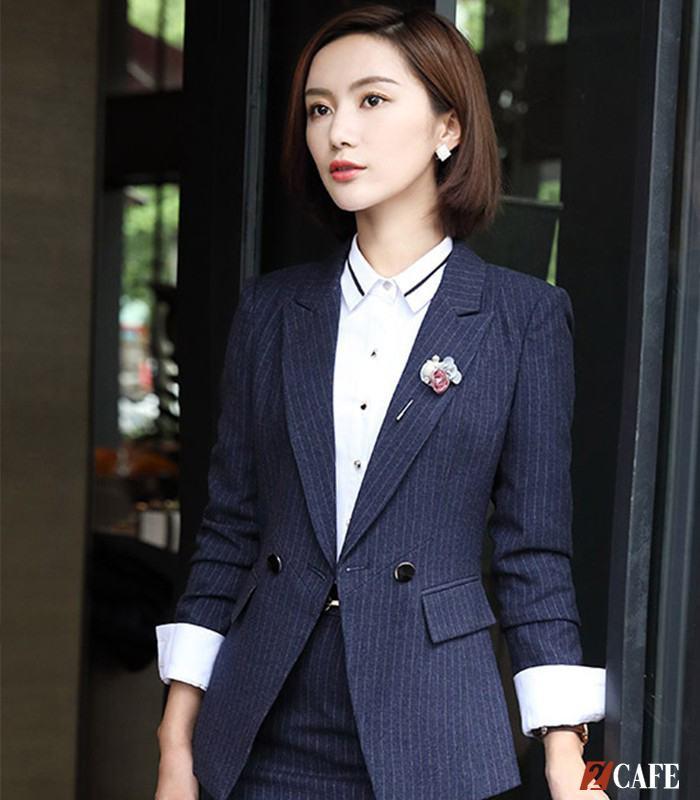 Vest nữ phối áo sơ mi trắng sang trọng
