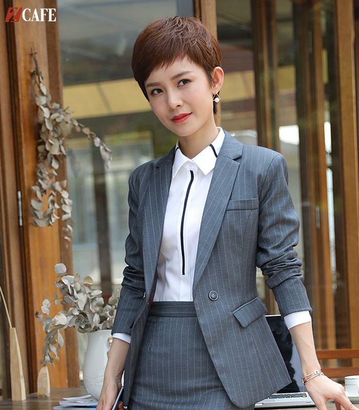 Đồng phục vest nữ kiểu dáng Hàn Quốc