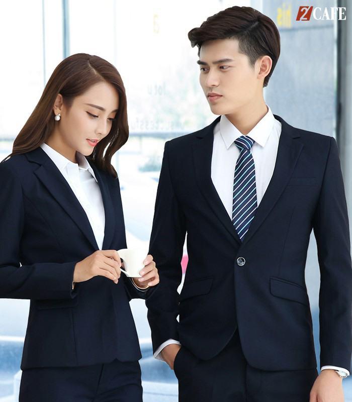 Bộ vest nam nữ tone sour tone đến từ đồng phục Hà Thành