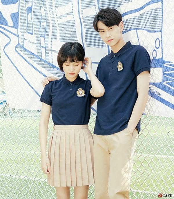 Mẫu áo phông đồng phục học sinh mới nhất 2021 (Ảnh: Internet)