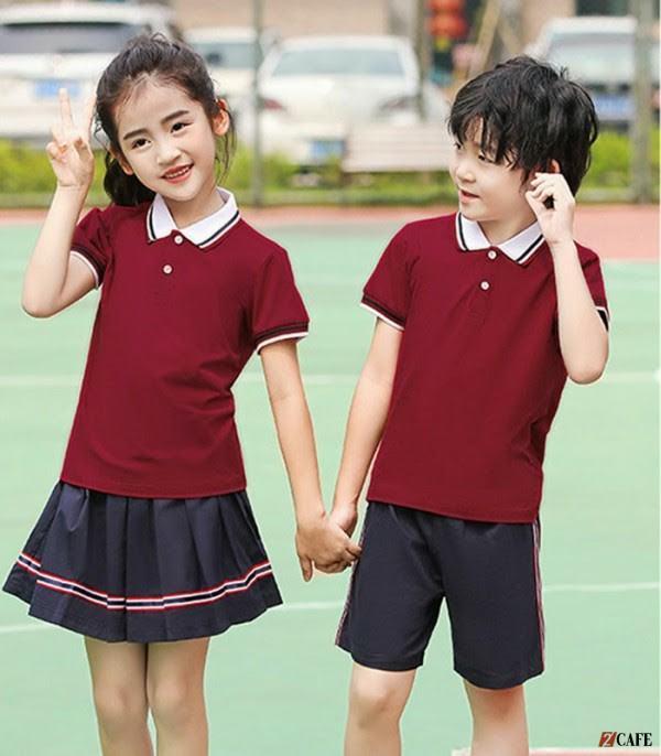 Mẫu đồng phục học sinh tiểu học Đồng phục Bốn Mùa (Ảnh: Internet)