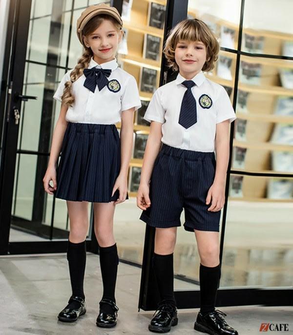 Thiết kế đồng phục lớp 1 cho bé đơn giản (Ảnh: Internet)