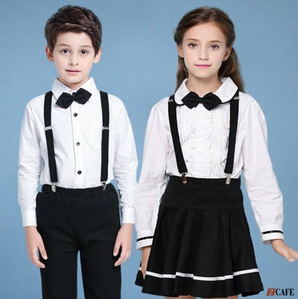 Thiết kế váy yếm với gam màu đen trắng (Ảnh: Internet)