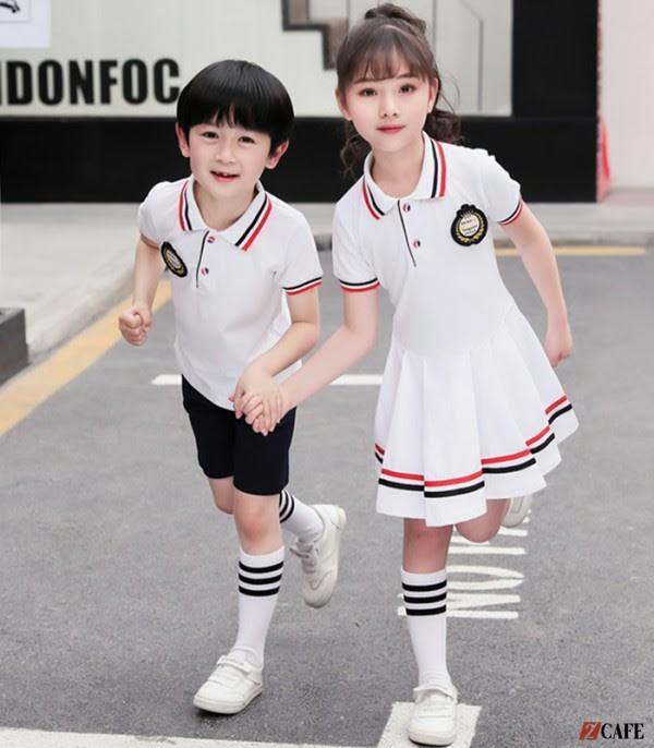 Mẫu đồng phục học sinh tiểu học phong cách Nhật Bản (Ảnh: Internet)