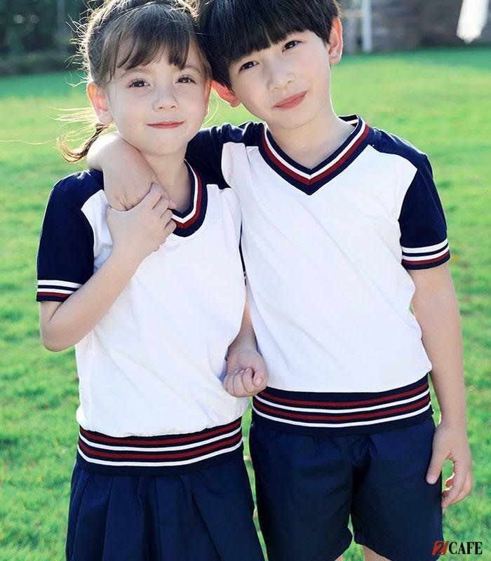 Một thiết kế khác của đồng phục tiểu học Khánh Linh (Ảnh: Internet)