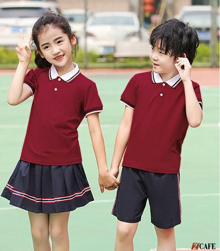 Thiết kế đồng phục học sinh cấp 1 khá bắt mắt với màu sắc, kiểu dáng đơn giản (Ảnh: Internet)