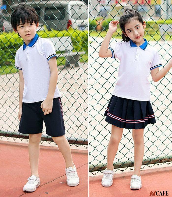 Gam màu trắng, xanh tím than được chọn nhiều trong trang phục tiểu học (Ảnh: Internet)