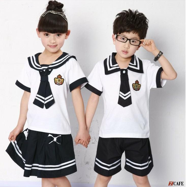 Mẫu áo trắng học sinh cấp 1 tại đồng phục Ngôi Sao (Ảnh: Internet)