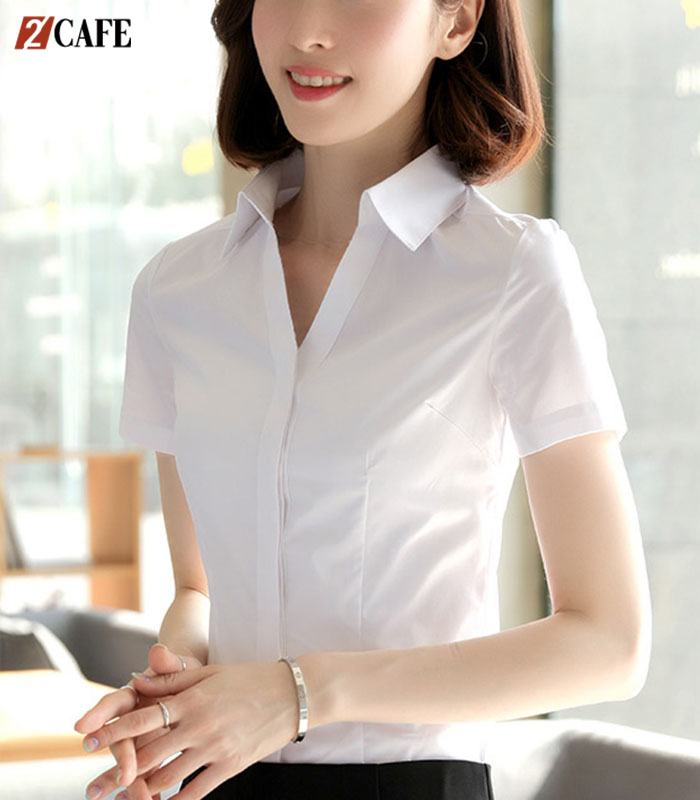 Kiểu dáng áo sơ mi ngắn tay dành cho nữ