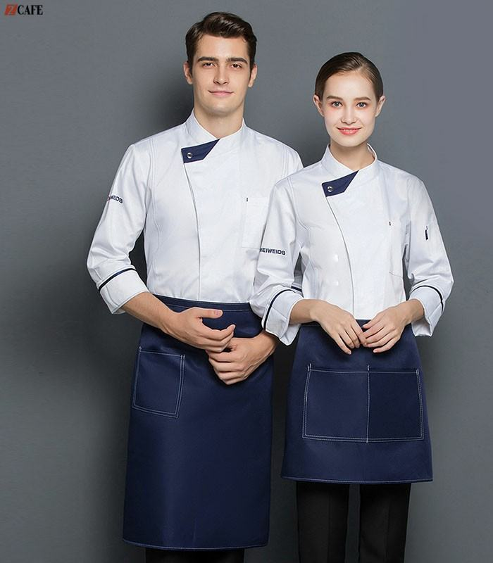 Phá cách ở cổ làm cho trang phục bếp thêm phần lịch sự (Ảnh: Internet)